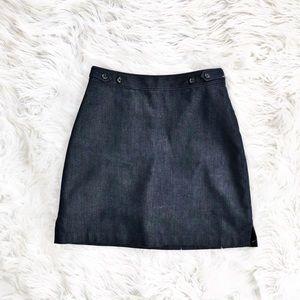 Banana Republic a-line denim skirt